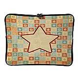 Laptop-Schutzhülle, Neopren, mit Reißverschluss, Retro-Design, Weihnachtsstern, weiß-Farbe1...