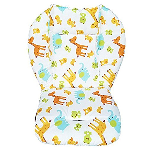Twoworld Baby High Chair Seat Cushion Liner Mat Pad Cover Animal Breathable