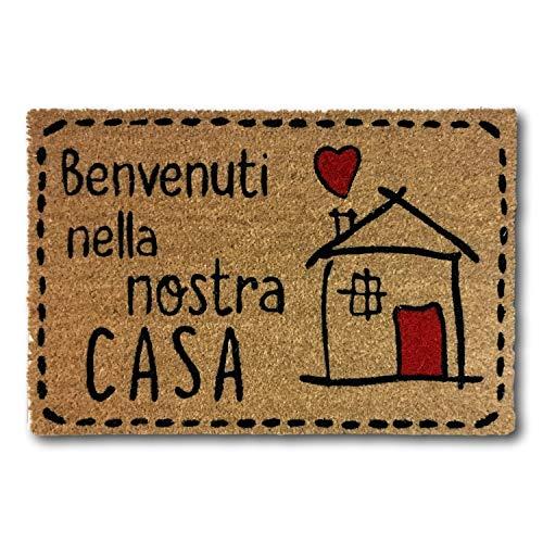 KOKO DOORMATS Zerbino Ingresso casa | Tappeto Ingresso casa Divertenti Benvenuti nella...