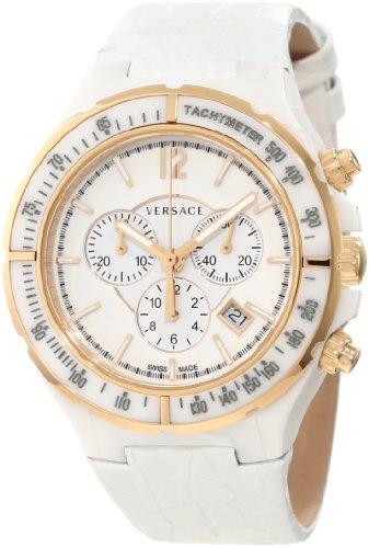 Versace Unisex analoog kwarts horloge met lederen armband 28CCP1D001S001