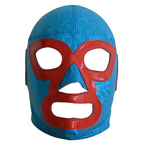 Nacho Libre Halbprofessionelle Wrestling Lucha Libre Maske für Erwachsene Luchador Maske Kostüm Wear Pro Blau