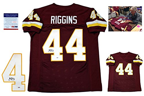 John Riggins Signed Custom Jersey - PSA/DNA - Autographed w/ Photo - Burgundy