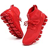 Men Sneakers Running Shoes Athletic Tennis Walking Shoes Fashion Jogging Sneakers mesh Breathable red Size 11
