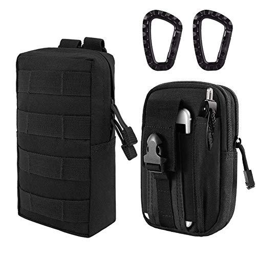 ZAYOO Taktische Tasche MOLLE EDC Tasche Kompakte wasserfeste Utility Gadget Hängende Taillentasche Satteltasche zum Camping Wandern Outdoor Sport