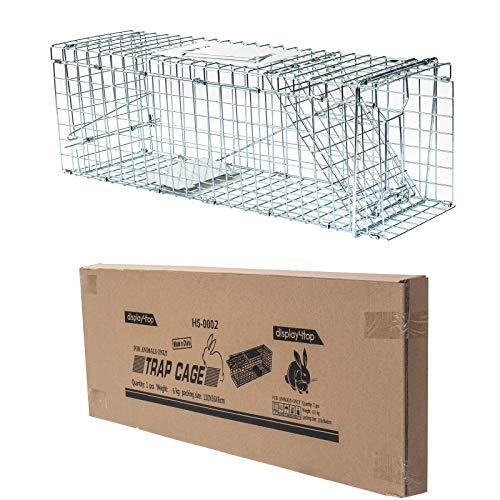 D4P Display4top Große Marderfalle, einfach zu fangen | Wetterfeste, robuste Lebendfalle | Falle für Marder, Katze | Lebend Kaninchenfalle Katzenfalle, Marderfallen (79 x 28 x 33cm)
