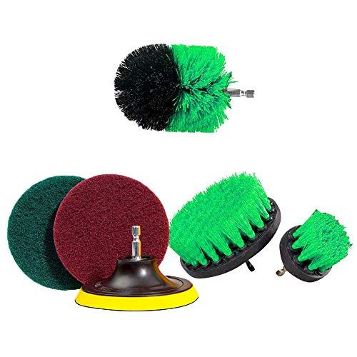Coomir borstelset om te boren, schuurpads, elektrische reinigingsuitrusting voor badkamer en keuken