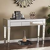SEI Furniture Darien Contemporary Mirrored, Console...
