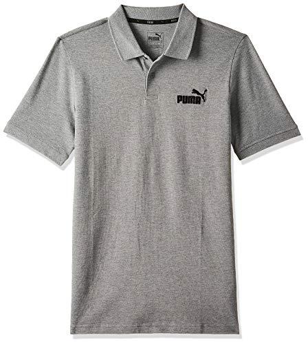Puma Herren ESS Pique Polo T-shirt, Medium Gray Heather, XL