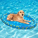 PUPTECK Dog Pool Float Large - Dog Raft for Swimming Pool and Lake, Summer Water Toy for Kids and Pets, Floating Row Bed