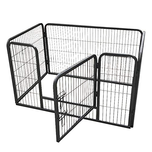 """XERATH Dog Fence & Pet Playpen, Heavy Duty Foldable Metal Dog Pen 32""""/28"""" Height with Door for Outdoor Exercise, Indoor Kennels (28"""" H)"""