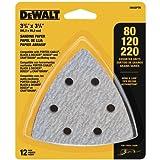 DEWALT Sandpaper Assortment, Hook and Loop Triangle, 12-Pack (DWASPTRI)