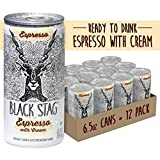 Black Stag Coffee Pre-Made Espresso with Cream, Ready to Drink, 6.5 fl oz (Pack of 12)