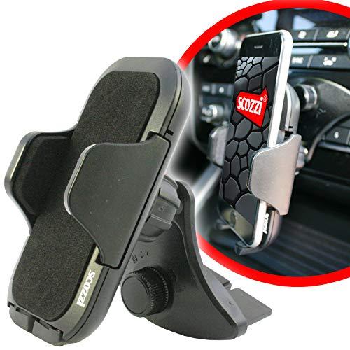 Support voiture fente CD scozzi pour [Samsung Galaxy S10 S9 S8 S7 S6 S5 S5 S4 S3 S2 A3 A5 A6 J7 J5 J3 J1 Xcover + mini edge plus] noir (am11)
