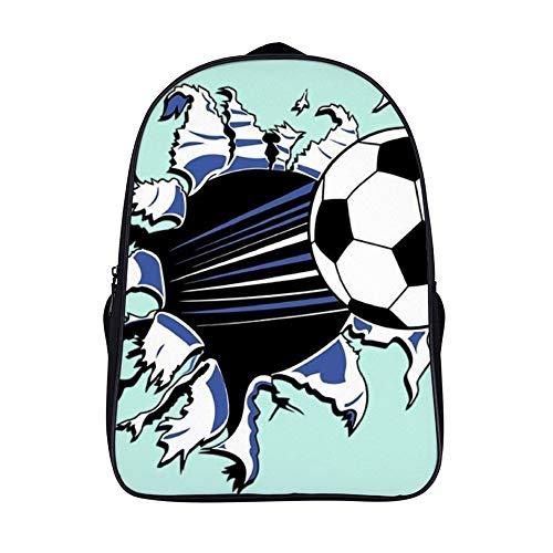 XIAHAILE Schulrucksack für Mädchen, leicht, Campus Büchertasche Laptoprucksack Teenager Schultasche 40,6 cm, Fußball Break The Wall