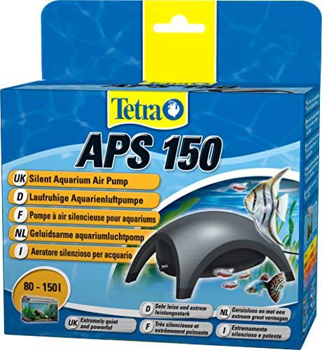 Tetra APS 150 Bomba de acuario 80 - 150 L, silenciosa y con aireadores potentes, antracita