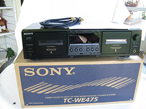 Sony TC-WE 475 Dual Stereo Cassette Deck Player Recorder Includes
