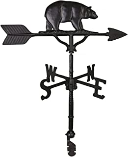 Montague Metal Products 32-Inch Weathervane with Satin Black Bear Ornament