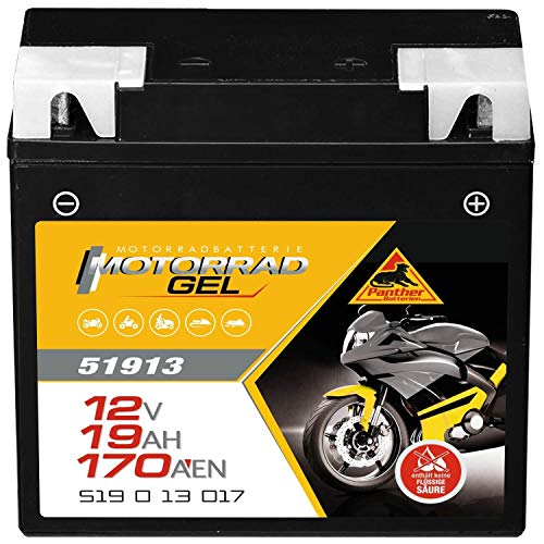 Panther Motorradbatterie GEL 12V 19Ah 51913 Batterie G19 ABS Leuchte erlischt