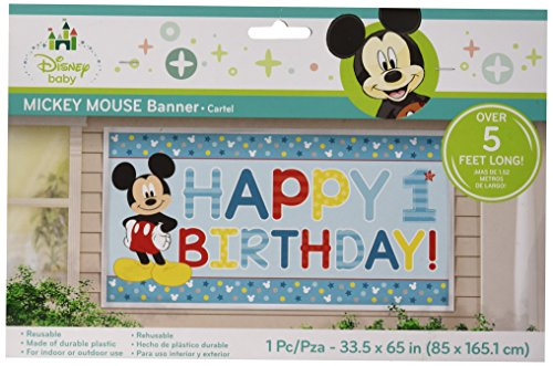 "Disney Mickey's ""Fun to be One"" Horizontal Giant Sign Banner, Birthday"