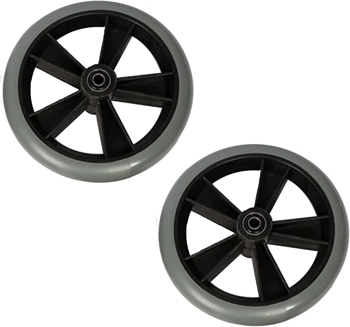ZLL Great interest Baltimore Mall 7-inch Wheelchair Accessories Front Tires PVC Casters Solid