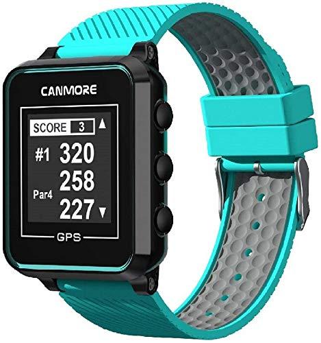 Canmore TW-353 GPS Golf-Uhr - Set mit Netzteil (türkis)