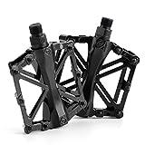 Pédales plates en alliage pour vélo de montagne et BMX-Taille de l'axe: 9/16'-AllRight, noir