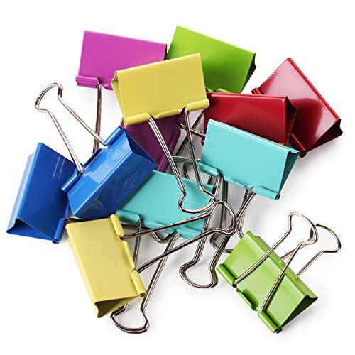 Mr. Pen- Large Binder Clips, 2 Inch, 12 Pack, Colored Binder Clips, Binder Clips, Clips, Paper Clip, Binder Clip, Large Paper Clips, Colorful Binder Clips, Clips for Paperwork, Office Clips, Paperclip