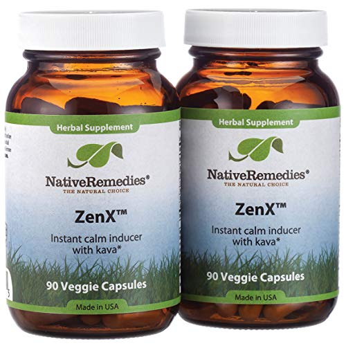 Native Remedies ZenX Natural Herbal Supplement for a Calm Mood and Emotional Health, 2-Pack