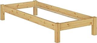 Erst-Holz Cadre de lit futon pin Massif 100x200, Design Moderne sans tête de lit, sans sommier 60.35-10oR