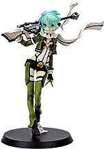 MNZBZ Anime Sword Art Online II Sao Aquamarine Asada Shino Sinon Gun Gale en línea Cool Girl Ver PVC Figura de acción Modelo Juguetes 22cm