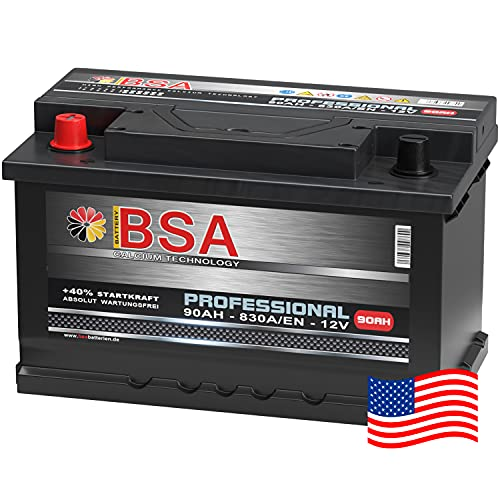 US Autobatterie 90Ah 830A/EN USA Batterie Pluspol Links Antara Captiva 59095