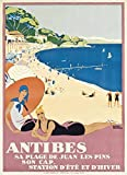 ELITEPRINT VINTAGE FRANCE FRENCH TRAVEL TOURISM POSTER REPRINT ANTIBES On 250gsm PRINT MATERIAL ART CARD A3 Reproduction Poster