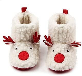 HONGTEYA Infant Shoes for Christmas - 2019 Warm Winter Snow Boots Cozy Fleece Booties