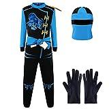Katara- Disfraz de Ninja Dragón para Niño Carnaval, Cosplay, Color azul - jay walker, Talla s (3-5...
