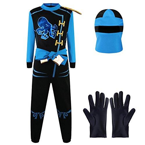 Katara Disfraz de Ninja Dragón para Niño Carnaval, Cosplay, color jay walker, azul, Talla M (6-8 años) (1771) , color/modelo surtido