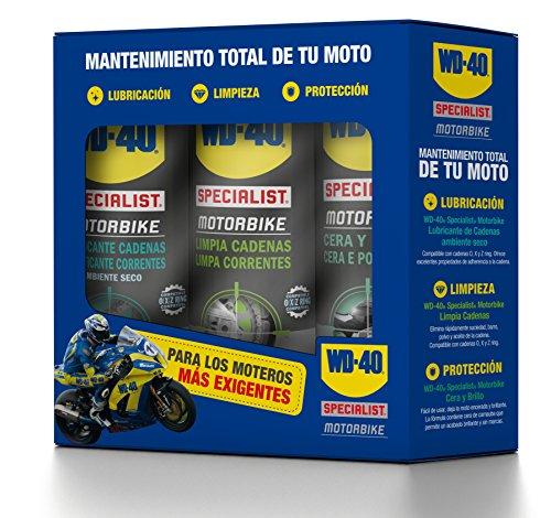 WD-40 Total de Moto en Ambiente Specialist Motorbike Spray, 400mL, Caja de 3