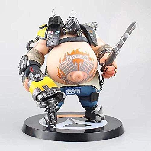 N / A Overwatch Modelo de muñeca móvil Roadhog Estatua muñeca niños Anime Regalos Vida Cotidiana Decoraciones para el hogar colección Juguetes para niños Regalos 26CM