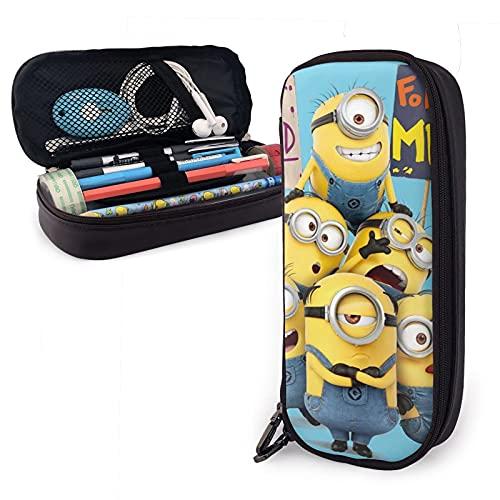 Lindo Minions Estuche para lápices para niños y niñas, para bolígrafos, organizador de papelería, maquillaje y cosméticos
