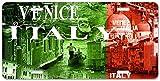 Dom576son 6 x 12 Pulgadas Placa de matrícula, Cartel de Aluminio, Placa de matrícula Personalizada Venecia Italia