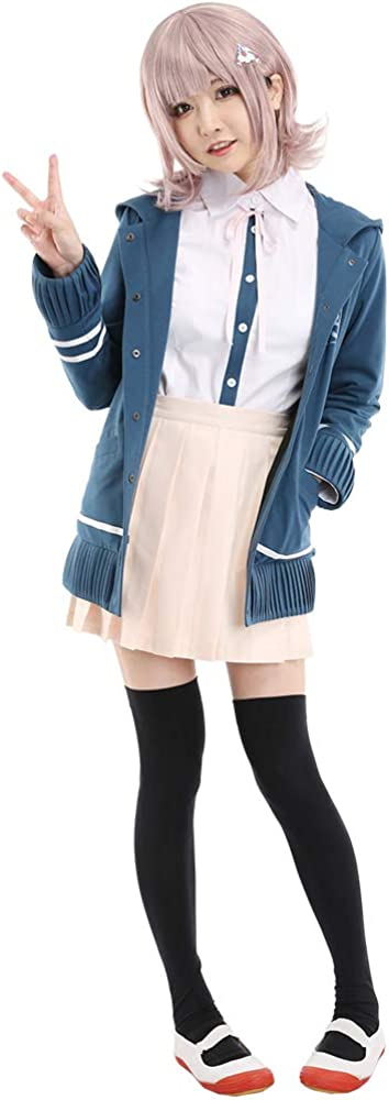 Cosplay.fm Special price for a limited time Women's Chiaki Nanami Cosplay Costume Popular shop is the lowest price challenge U Outfit School