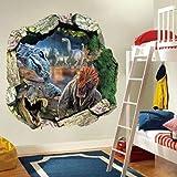 BKLKBL 50 * 50 cm 3D-Effekt Jurassic Park World Film