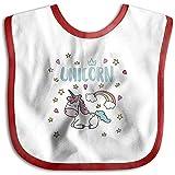 Babero de unicornio con pañuelo para el bebé, baberos suaves y absorbentes...