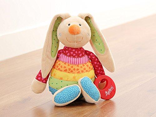 sigikid, Mädchen, Spieluhr, Stofftier Hase Rainbow Rabbit, Rot/Mehrfarbig, 40577 - 3