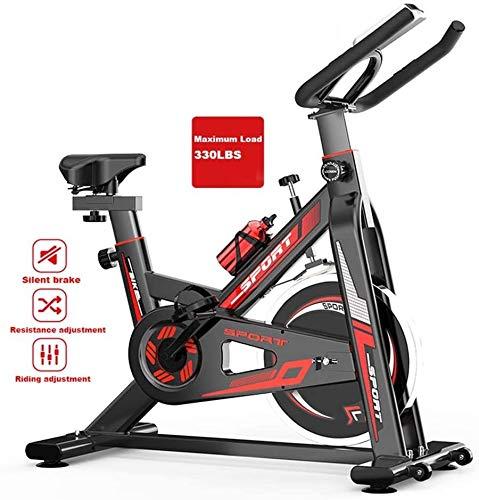 Magnética Bicicleta estática, cubierta bicicleta estacionaria Gimnasio, Home Fitness Equipo de transmisión por correa con el monitor LCD, cubierta ciclo de la bici for el hogar entrenamiento de la gim