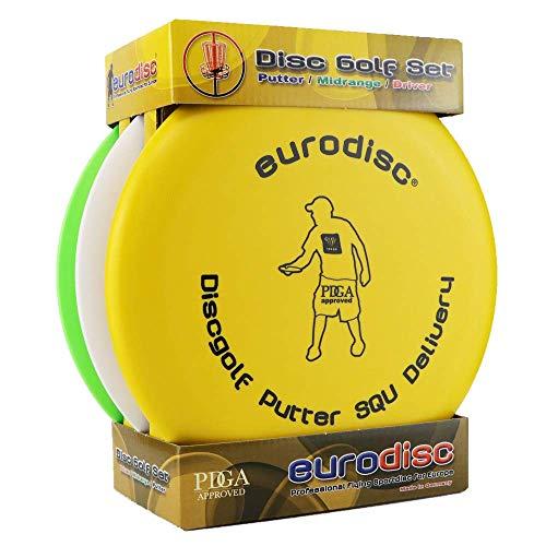 Eurodisc Disc-Golf Einsteiger Starter Beginner Set, PDGA Approved, SQU Putter Driver und hochwertige Selection Midrange Disc
