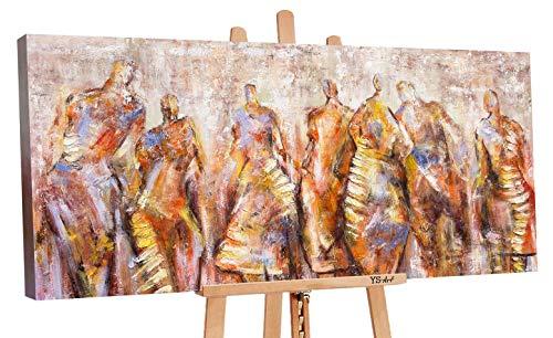 - Art Premium   Cuadro acrílico Carnaval   Cuadros de lienzo pintado a mano   Cuadro de pintura acrílica   Arte   Lienzo   Unikat   Naranja   PS061 (160 x 80 cm)