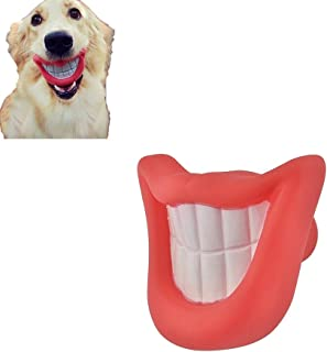PanDaDa Dog Chew Toy Pet Squeaking Toy Large Small Dog Red Smiling Lip Shape Eco-friendly Non-toxic Supplies