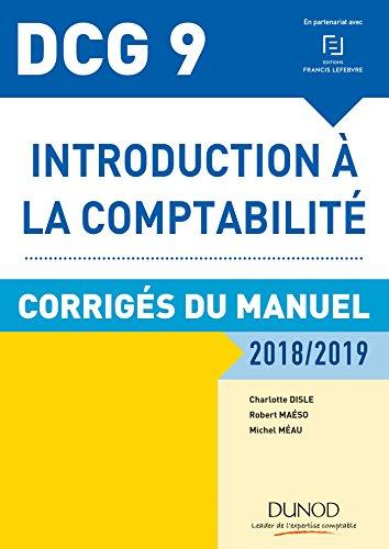 DCG 9 - Introduction à la comptabilité 2018/2019