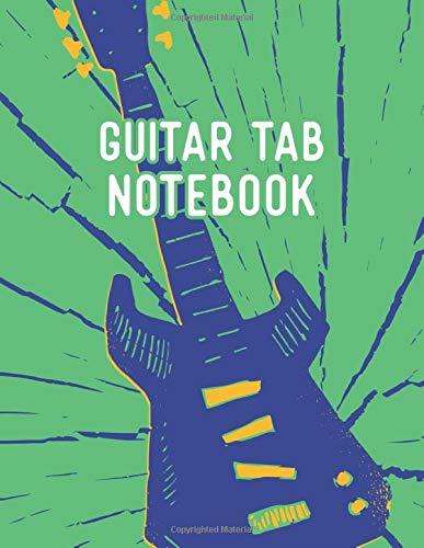 Guitar Tab Notebook: Guitar Music Tab Notebook | 150 Pages with Tabs and Chord Charts | 8.5x11