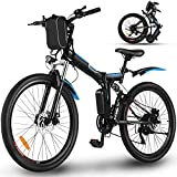 Profun 26'' Vélo Electrique,Vélos de Montagne Pliable 250W 36V/8Ah Batterie Lithium-ION,E-Bike avec Moteur, Shimano Amovible 7 Vitesses, Frien à Double Disque, Vélo électrique Pliant pour Adultes